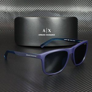 ARMANI EXCHANGE AX4049Sf Matte Blue Sunglasses